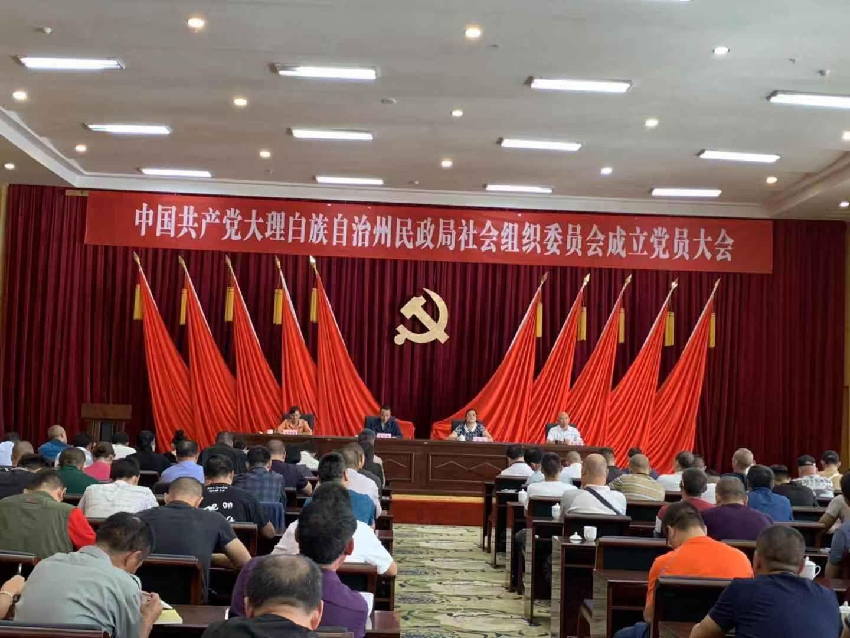 中共大理白族自治州民政局社会组织委员会成立